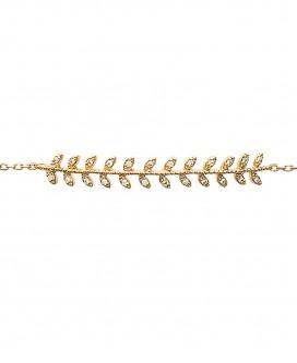 "Bracelet ""Feuille"" en Plaqué Or"