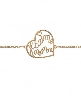 "Bracelet ""Je t'aime"" en Plaqué Or"