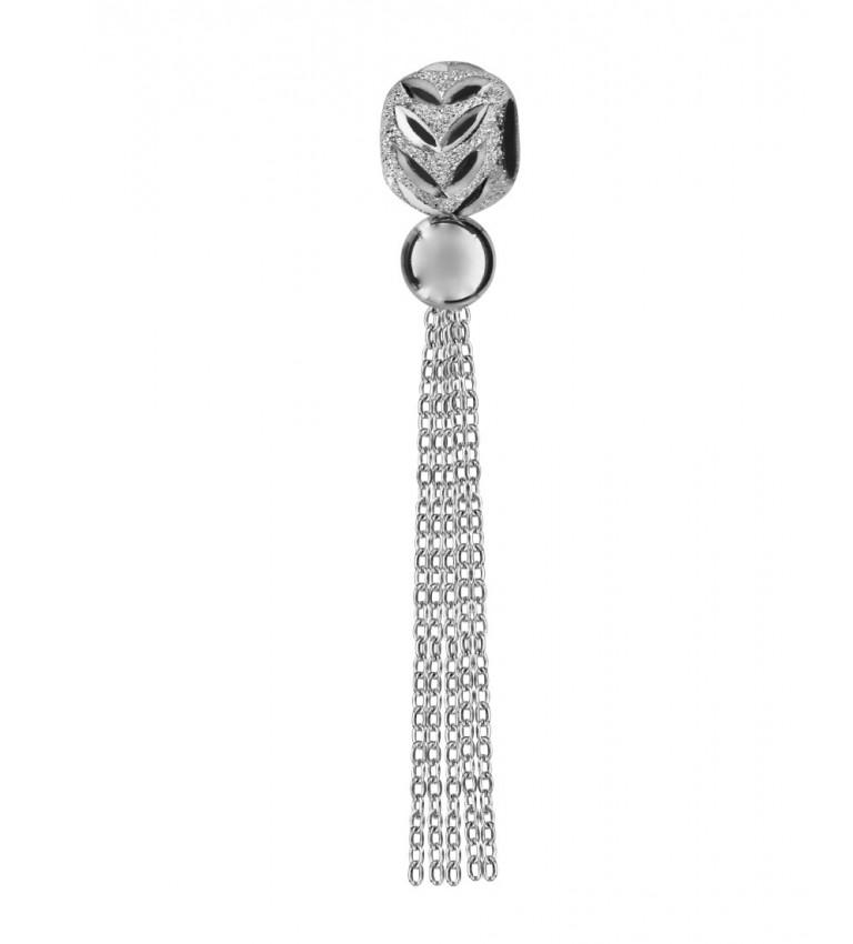 Charm Diamanté et Ajouré Pompon
