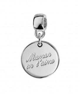 """Charm Médaille """"Maman on t'aime"""""""