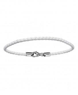 Bracelet en Cuir Blanc 19.5cm