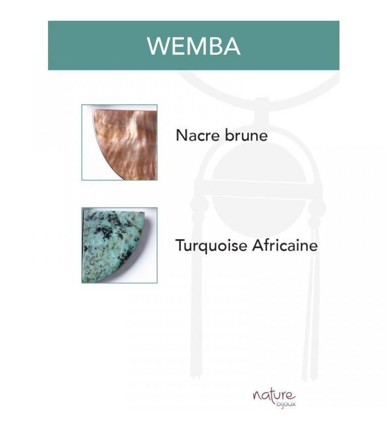 Boucles d'oreilles Wemba