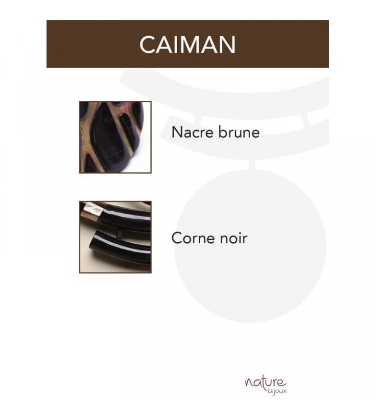 Boucles d'oreilles Caiman