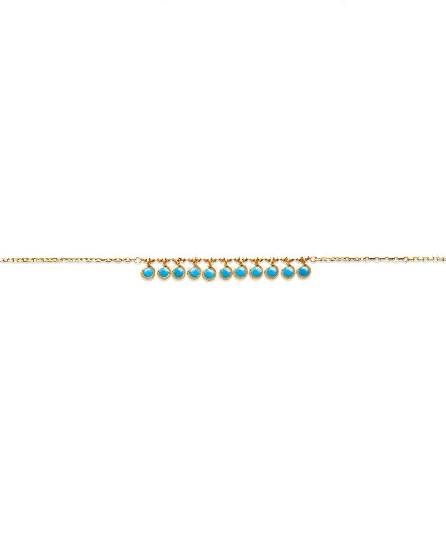 Bracelet plaqué or web