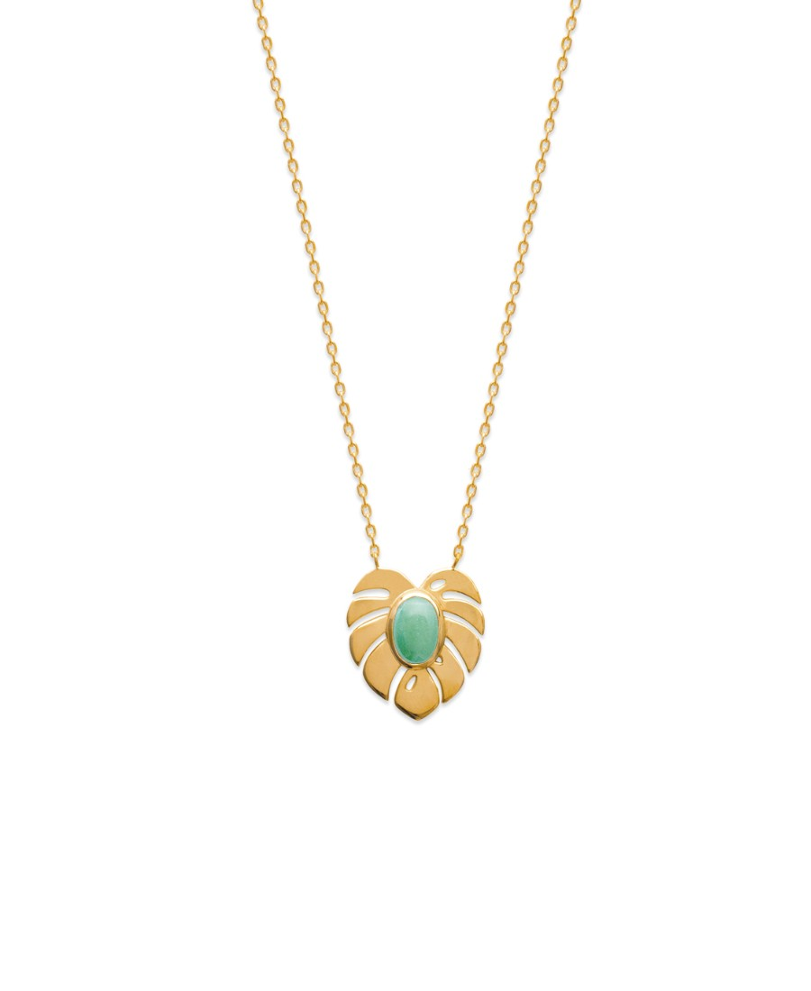 Collier Monstera Aventurine
