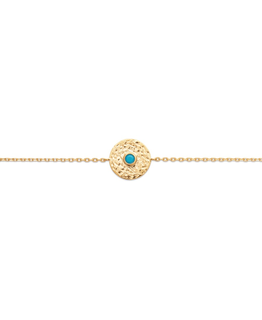 Collier rond turquoise