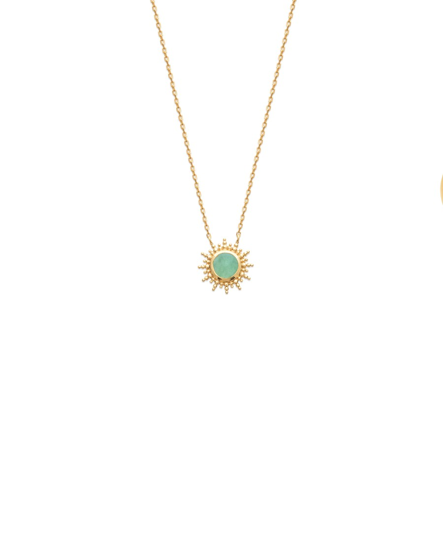 COLLIER PL-OR 750 3MIC AVENTURINE