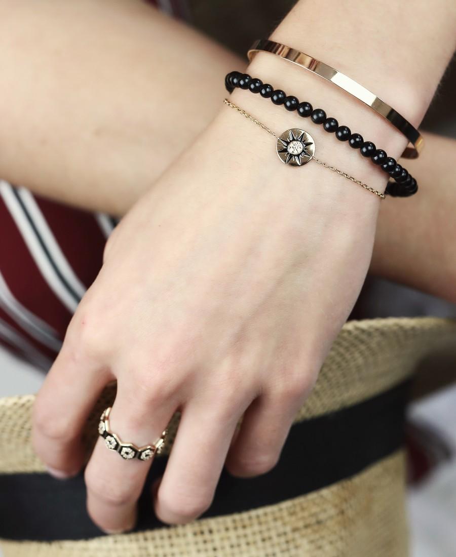 Bracelet Pierre Obsidienne