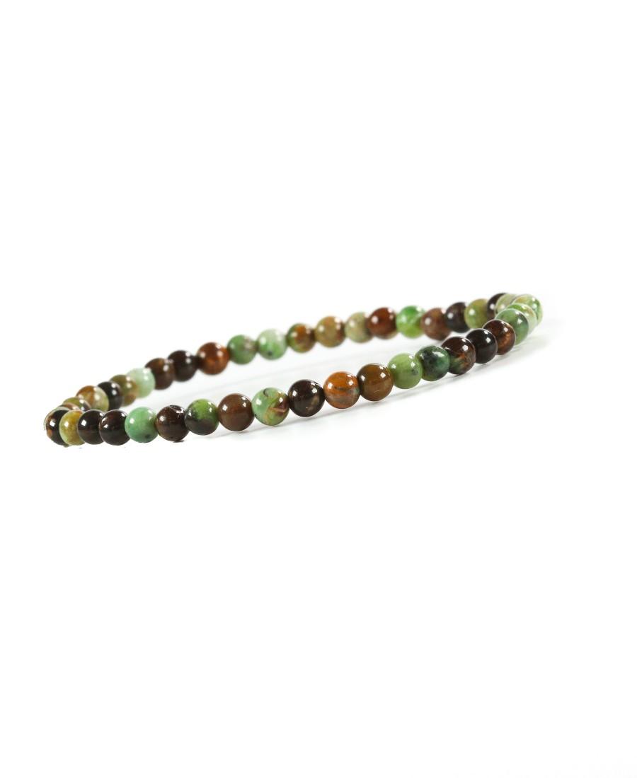 Bracelet Opale Verte Fossilisée