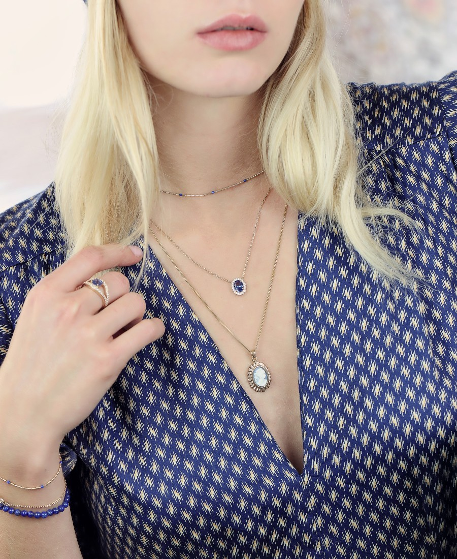 Collier Annabelle Bleu