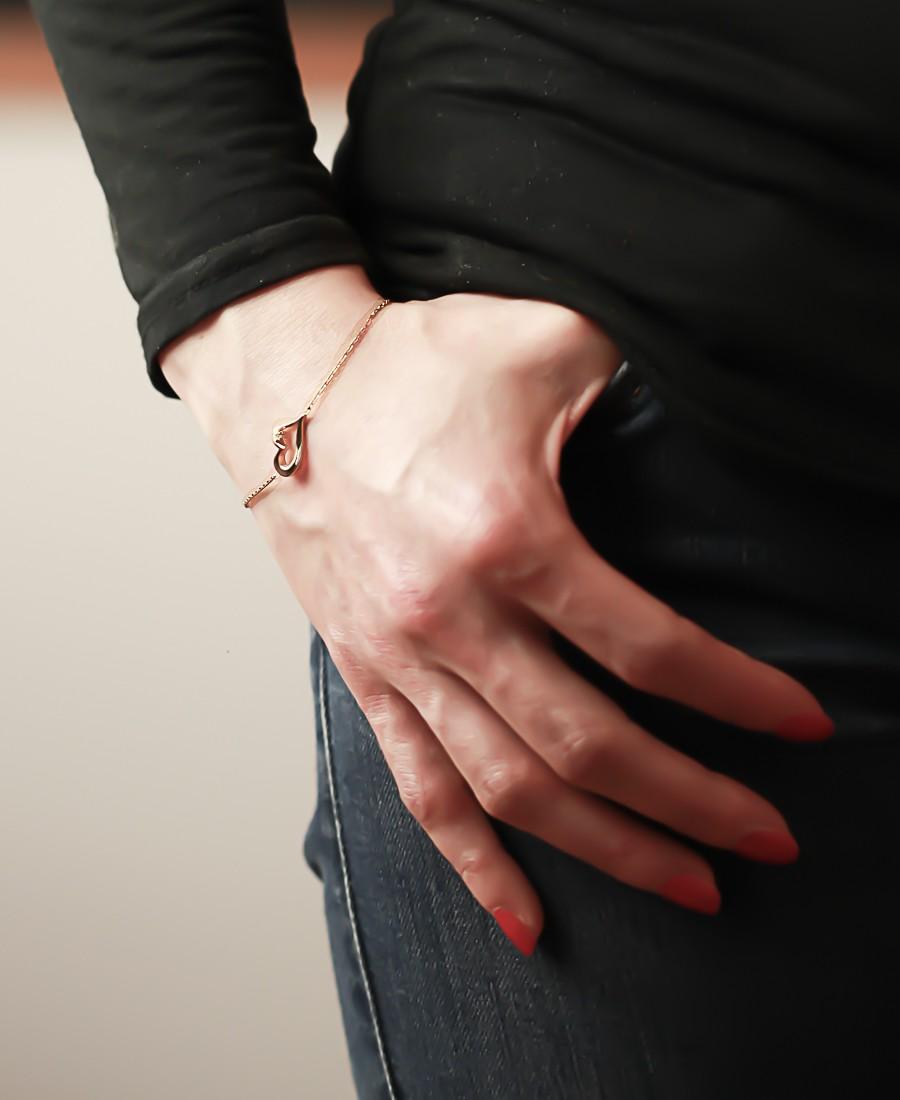 """Bracelet """"Coeur"""" en Plaqué Or"""