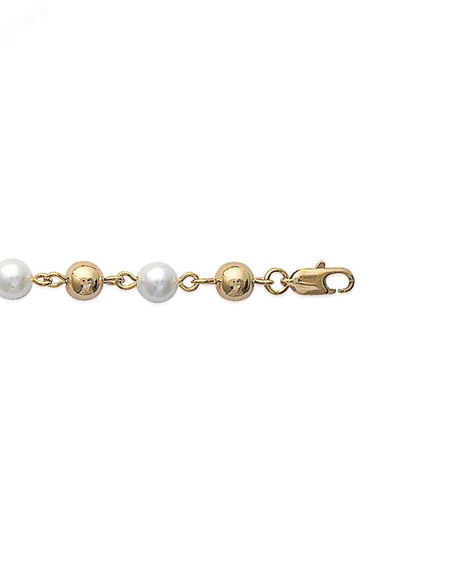 """Bracelet """"Perles"""" en Plaqué Or"""