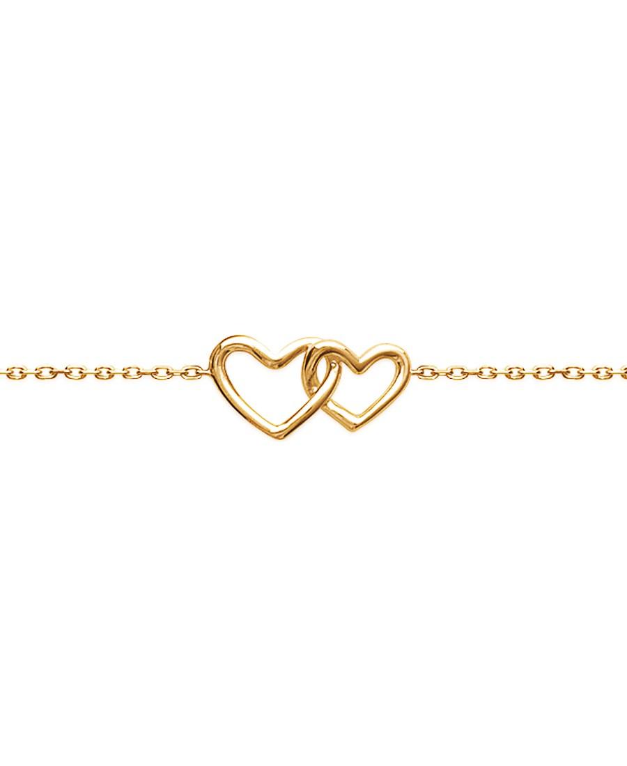 "Bracelet ""Coeurs"" en Plaqué Or"