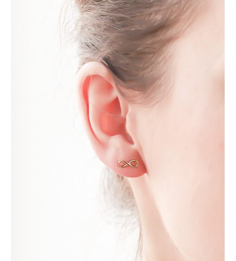 """Boucles d'oreilles """"Infini"""" en Plaqué Or"""