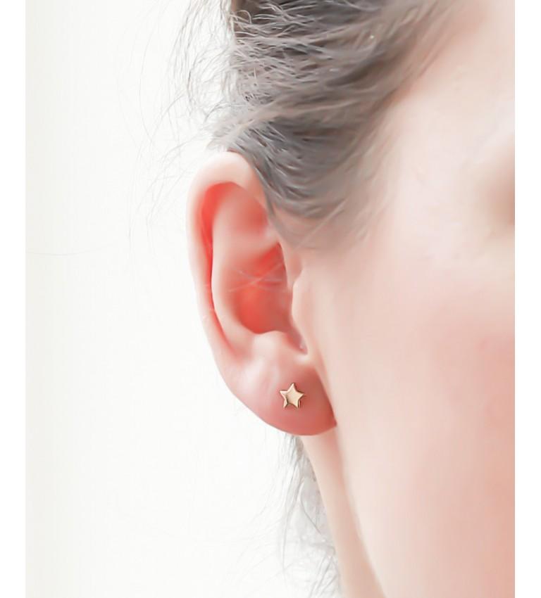 """Boucles d'oreilles """"Etoiles"""" en Plaqué Or"""