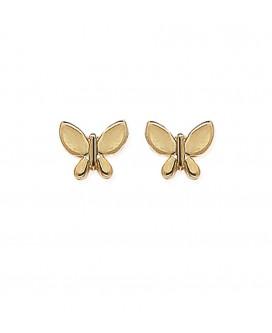 """Boucles d'oreilles """"Papillons"""" en Plaqué Or"""