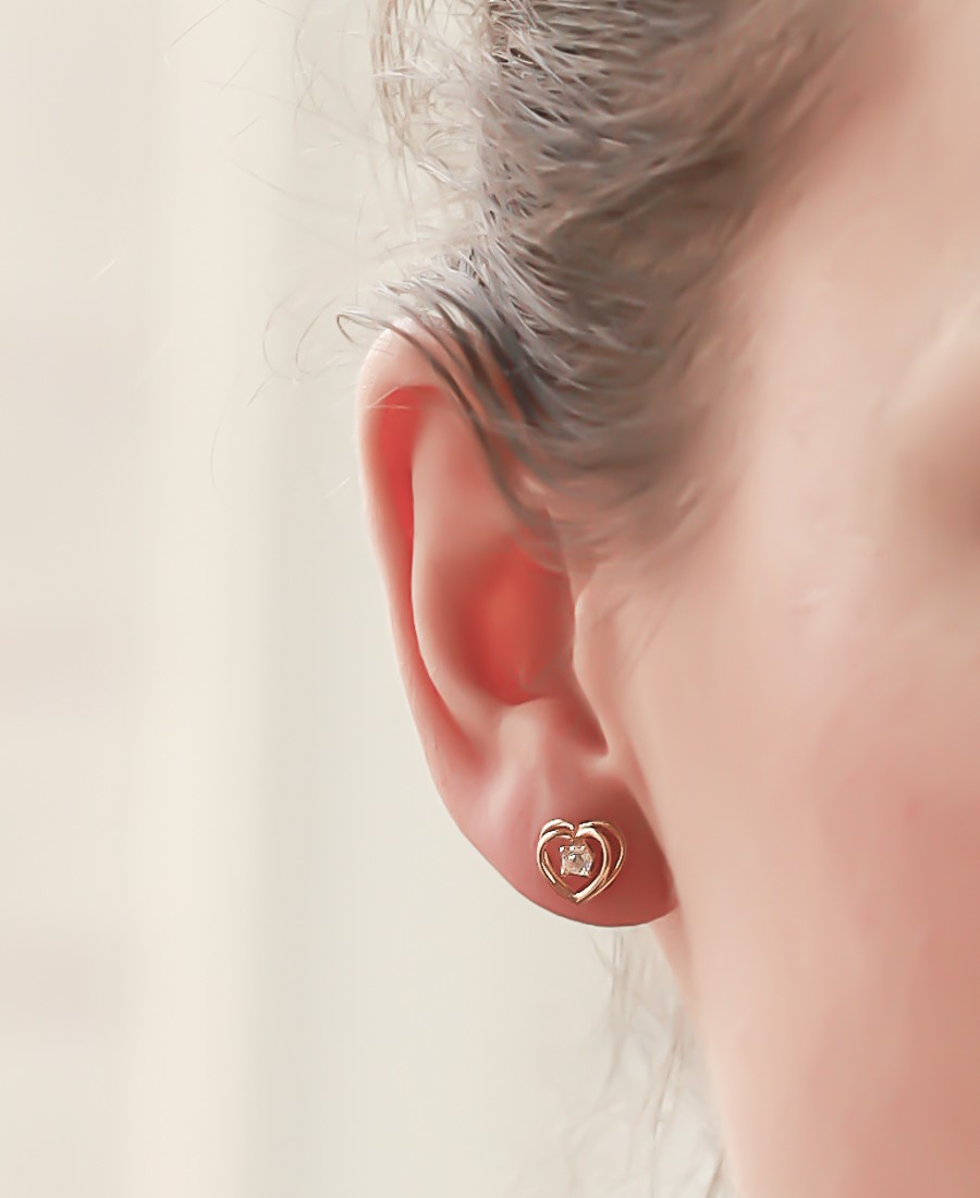 """Boucles d'oreilles """"Coeurs"""""""