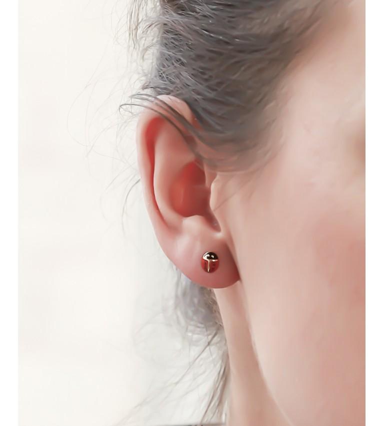 """Boucles d'oreilles """"Coccinelles"""" en Plaqué Or"""